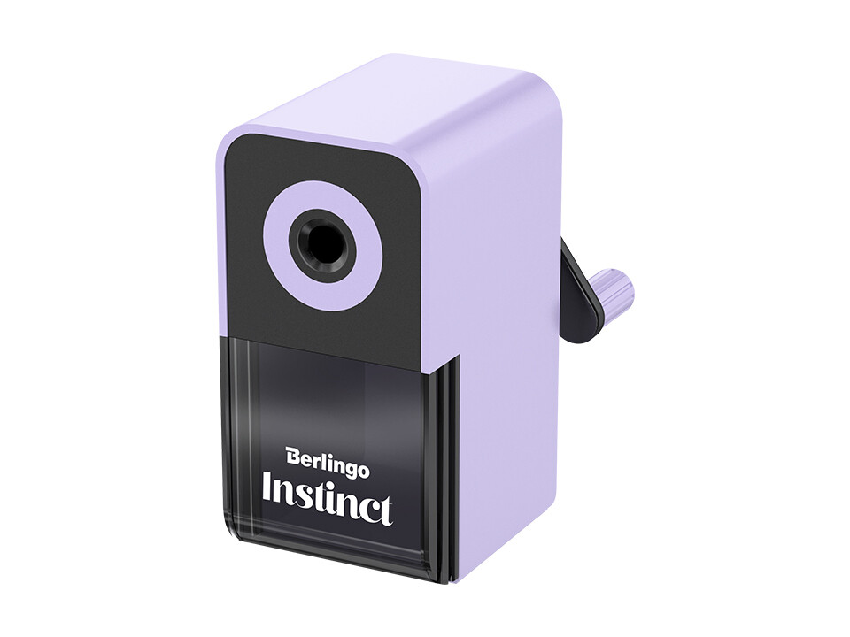 """Точилка механическая Berlingo """"Instinct"""", цвета в асс., пласт. корпус, инд. упак."""