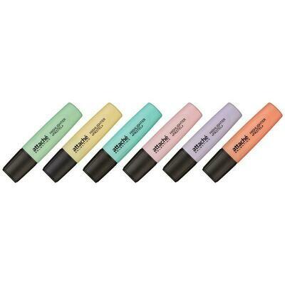 Маркер выделитель текста Attache Selection Pastel 1-5 мм 6 цветов