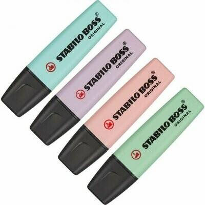 Набор текстовыделителей 4цв 2-5мм Stabilo Boss Original pastel 70/4-2