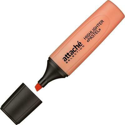 Маркер выделитель текста Attache Selection Pastel 1-5 мм оранжевый