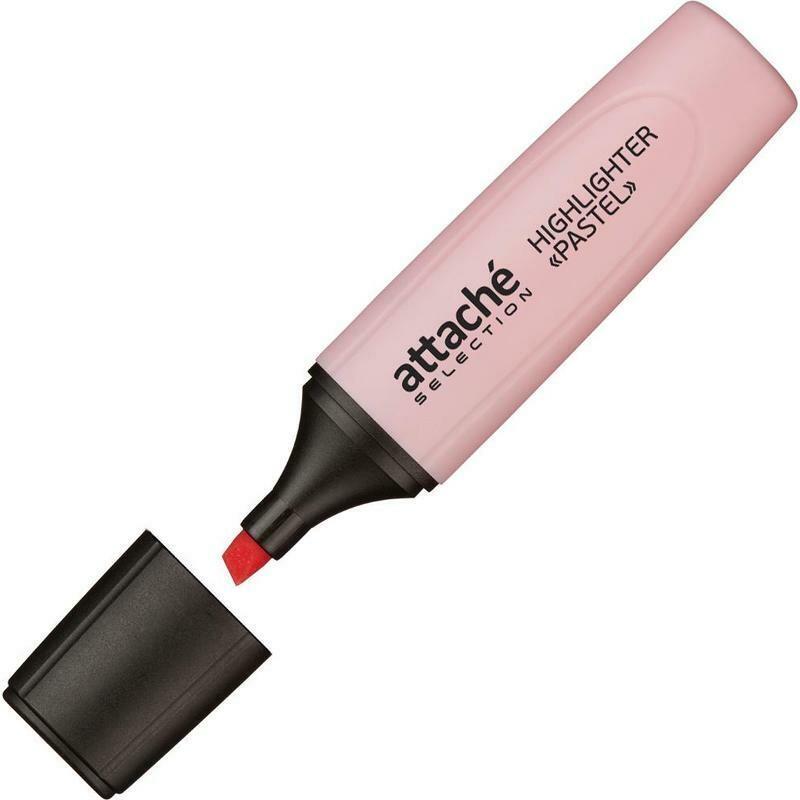 Маркер выделитель текста Attache Selection Pastel 1-5 мм розовый