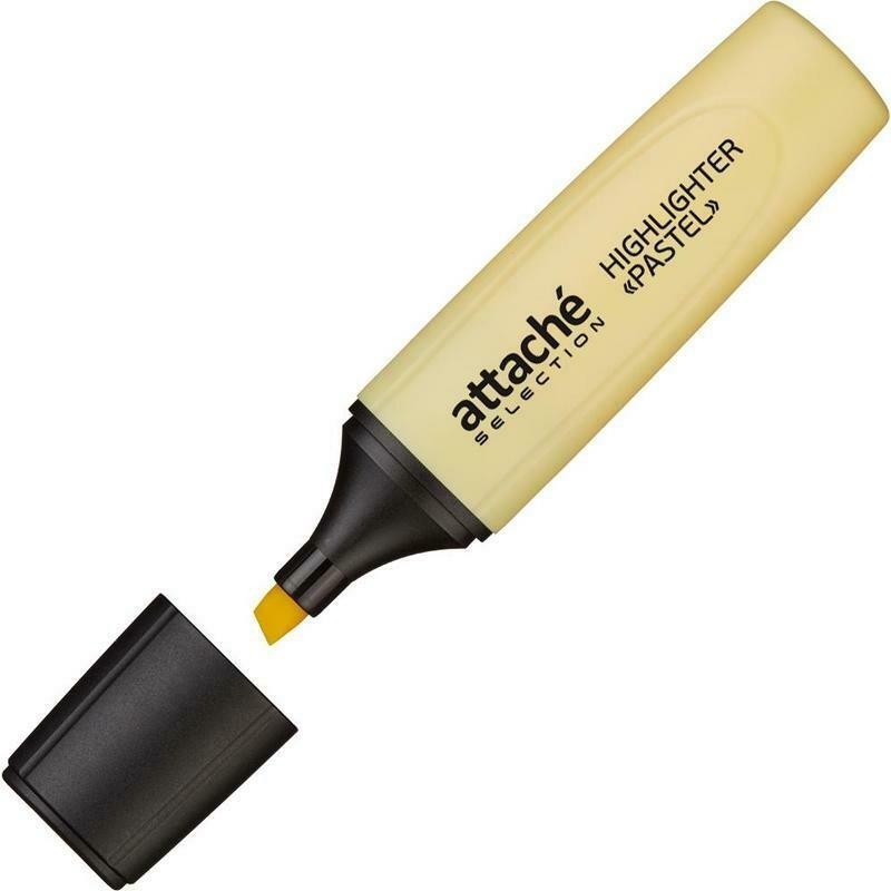 Маркер выделитель текста Attache Selection Pastel 1-5 мм желтый