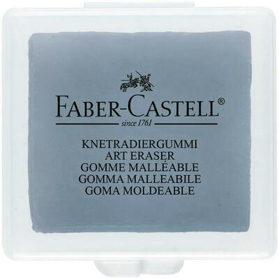 Ластик-клячка Faber-Castell, формопласт, 40*35*10мм, серый, пластик. контейнер