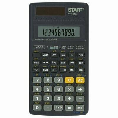 Калькулятор STAFF инженерный STF-310, 10+2 разрядов, двойное питание, 142х78мм 250279