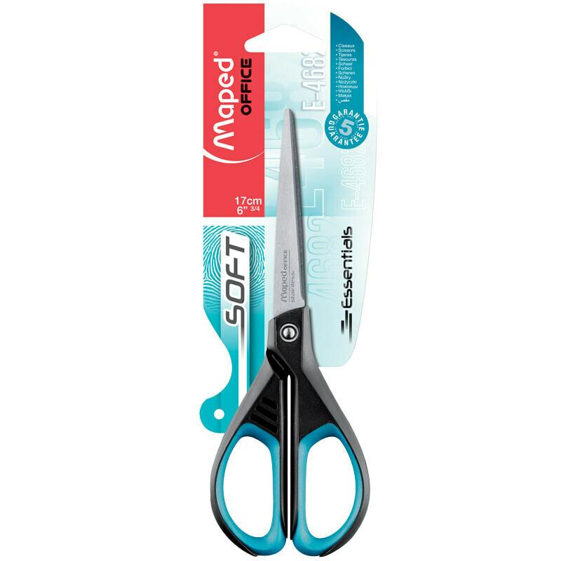 """Ножницы Maped """"Essentials Soft"""" 17см, мягкие вставки, европодвес"""
