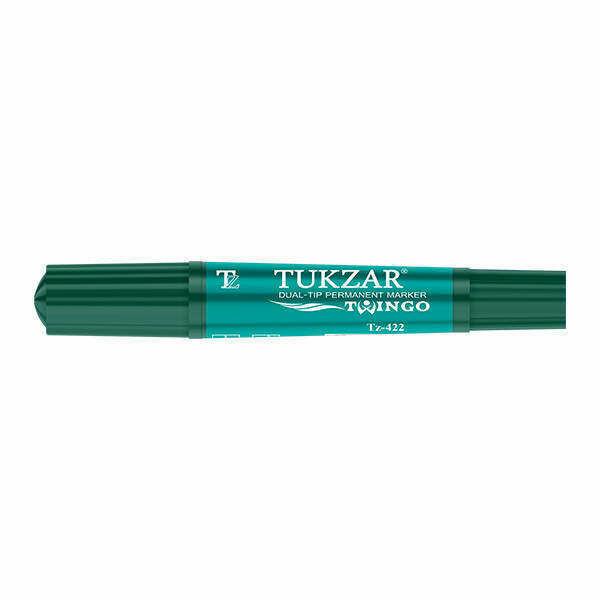 Перманентный маркер TZ-422 Tukzar двухсторонний (Зеленый)