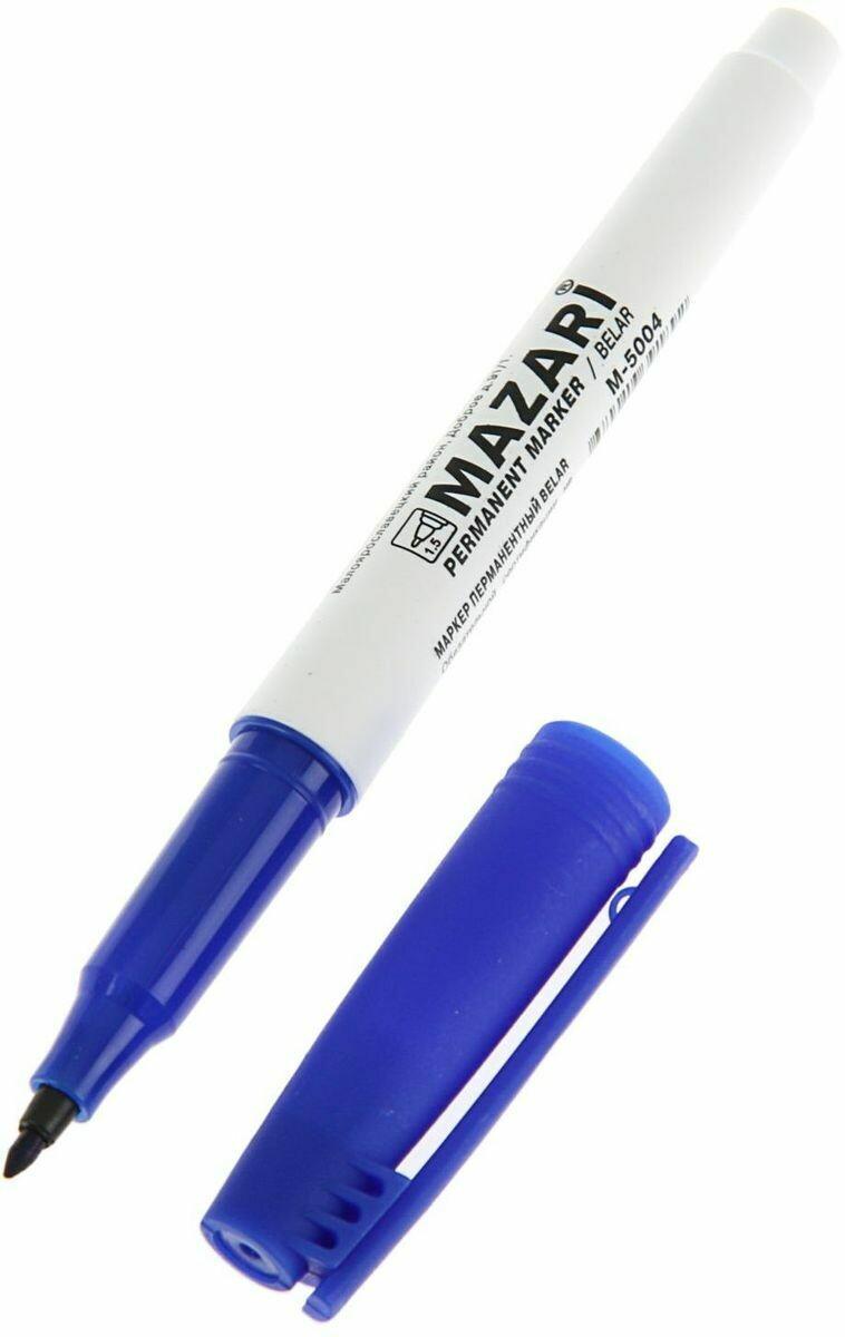 Маркер перманентный, BELAR, СИНИЙ, остроконечный пиш.узел 1 мм.M-5004
