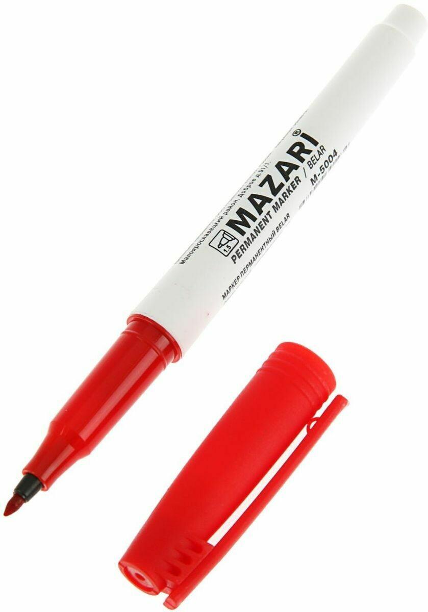 Маркер перманентный, BELAR, КРАСНЫЙ, остроконечный пиш.узел 1 мм.М-5004