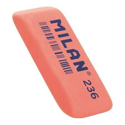 Ластик пластиковый Milan 236 скошенной формы, флюоресцентный