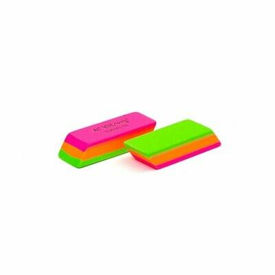 Ластик YL90087-TZ неоновый трёхцветный в индивидуальной упаковке