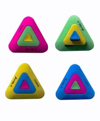 Ластик из натурального каучука YL90030  в форме треугольника