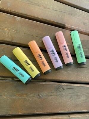 Набор текстмаркеров, 6 цвета,  дисплее NEW PASTEL FZ-56-1028
