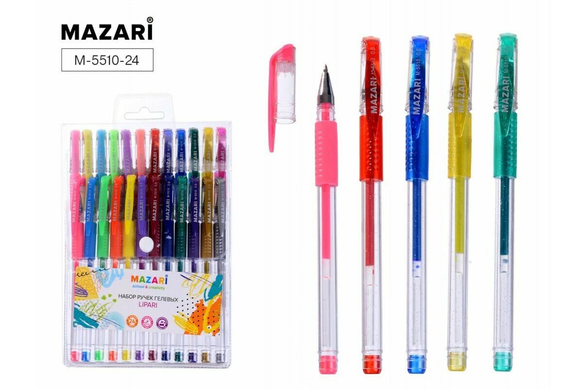 Набор ручек гелевых LIPARI, 24 цветов, пулевидный пиш.узел 0.8мм, ароматизированнные M-5510-24