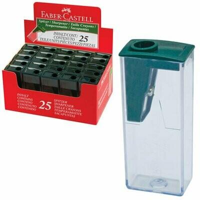 Точилка FABER-CASTELL, с контейнером, прямоугольная, пластиковая