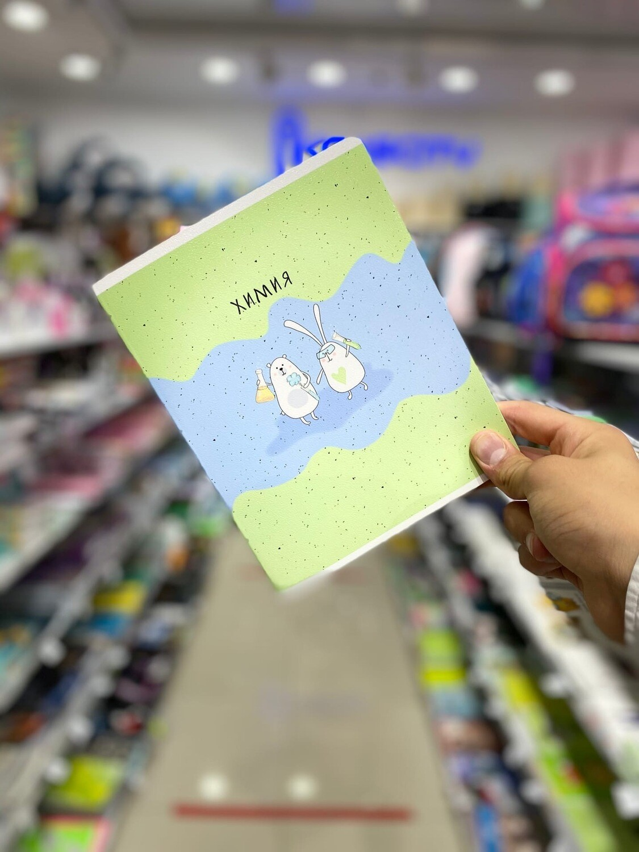 """Тетрадь А5 48л. Be Smart Bunny """"География"""" клетка, микротекстурироване, ламинация, цвет.печать"""