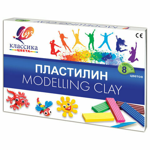 "Пластилин ""Классика""(Детство) 08 цветов, со стеком 12С 867-08"