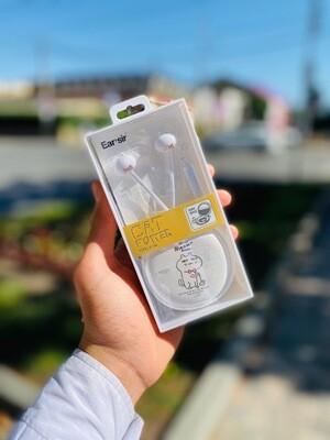 Наушники вкладыши с микрофоном EAR'SIR Котик 200268 КОКОС