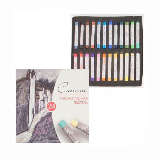 Пастель художественная Сонет, 24 цвета, картон. упак. 7141224