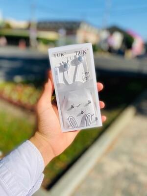 Наушники вкладыши с микрофоном TUK Rabbit 203586 КОКОС