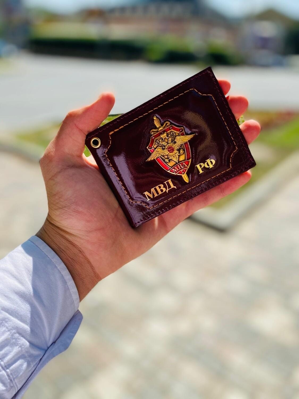 обложки удостоверение МВД с металлическим гербом обложки У17
