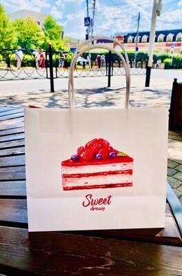 Пакет подарочный крафт Sweet dream, 25 × 22 × 12 см