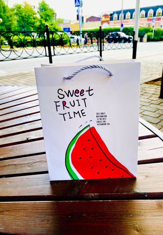 """Пакет  подарочный """"Sweet Fruit Time"""" 23*18*10"""