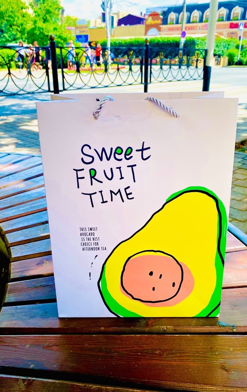 "Пакет  подарочный 26*32*12см  ""Sweet fruit time"""