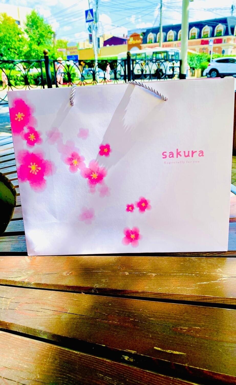 """Пакет подарочный 26*32*11 """"Сакура"""""""