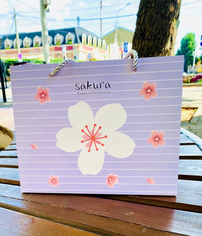 """Пакет подарочный 25*20*10 """"Сакура"""""""