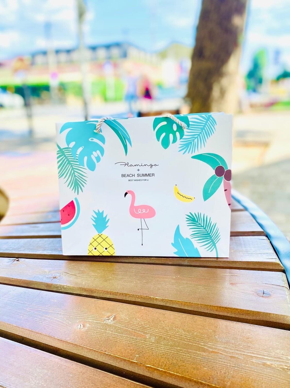 """Пакет подарочный """"Тропический фламинго"""" 18*23*10  FZ-222340"""