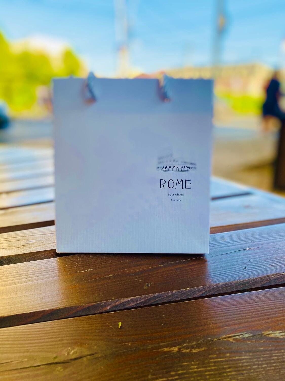Пакет подарочный 16*14*7 см Рим