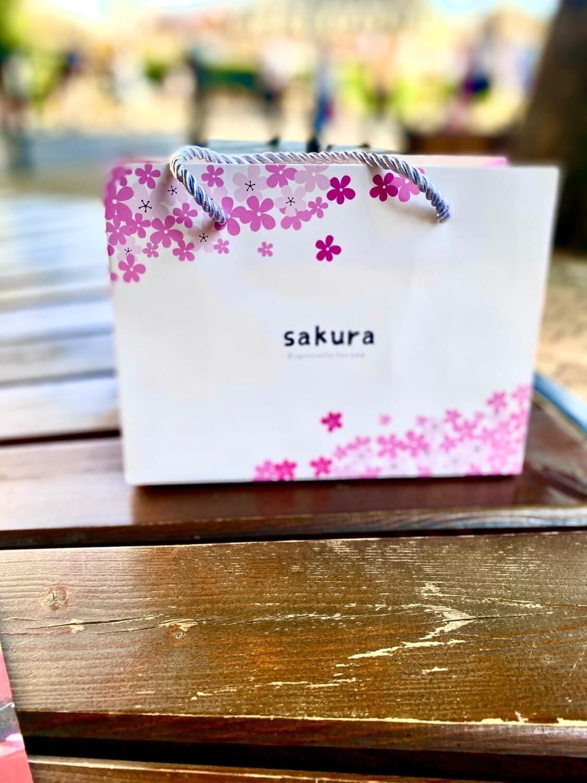 """Пакет подарочный 14.5*19.5*8.5 см """"Сакура"""""""