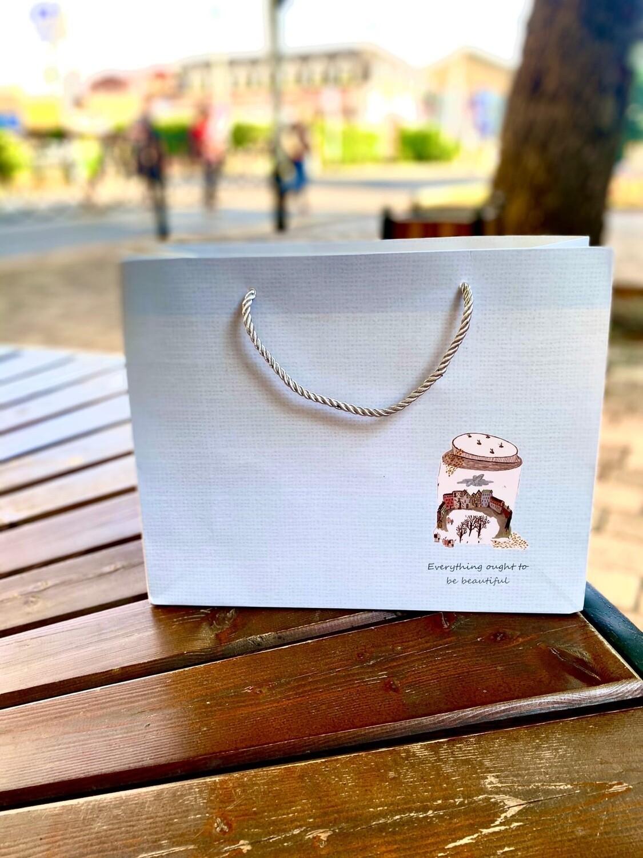 Пакет подарочный 32*26*11см