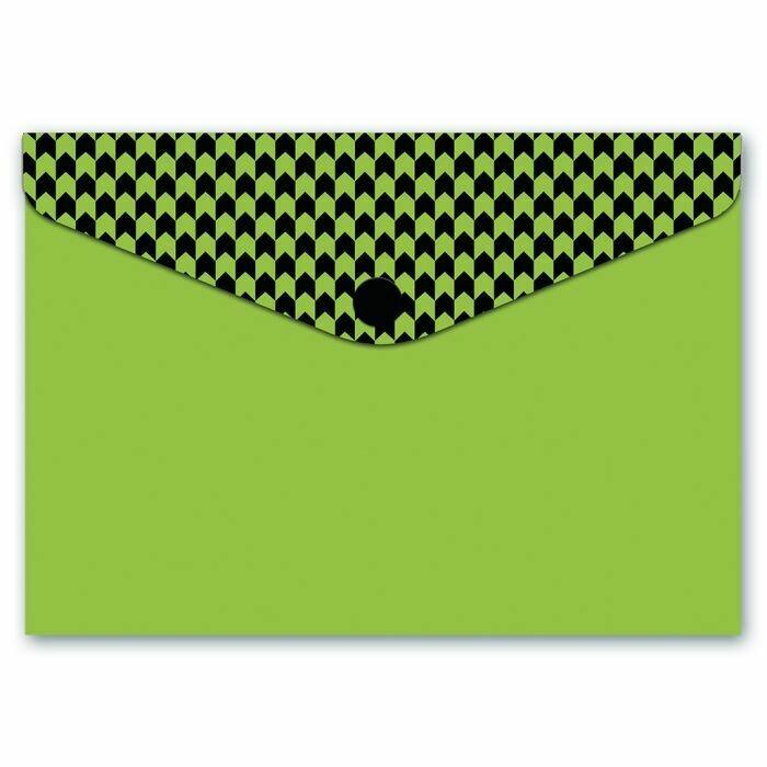 Папка для карт и визиток ФАКТУРА НА ЗЕЛЕНОМ (10.5х7.4, одно отделение, пластик, кнопка, УФ