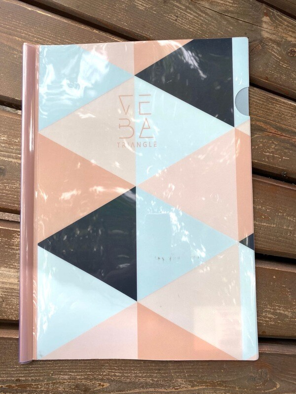 Папка-скоросшиватель на клипе пласт 0,18мм Треугольники 190415 КОКОС п/прозр ассорти 3 вида