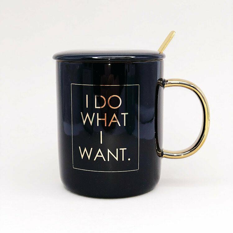 """Кружка """"I do what i want"""", black (450ml)"""