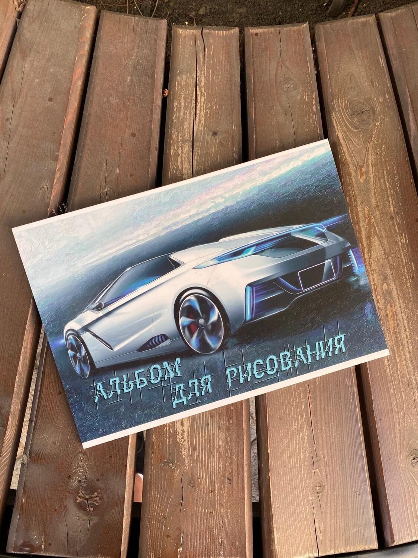 Альб д.рис 40л.склейка А4 Спортивные авто (гофр20-н)