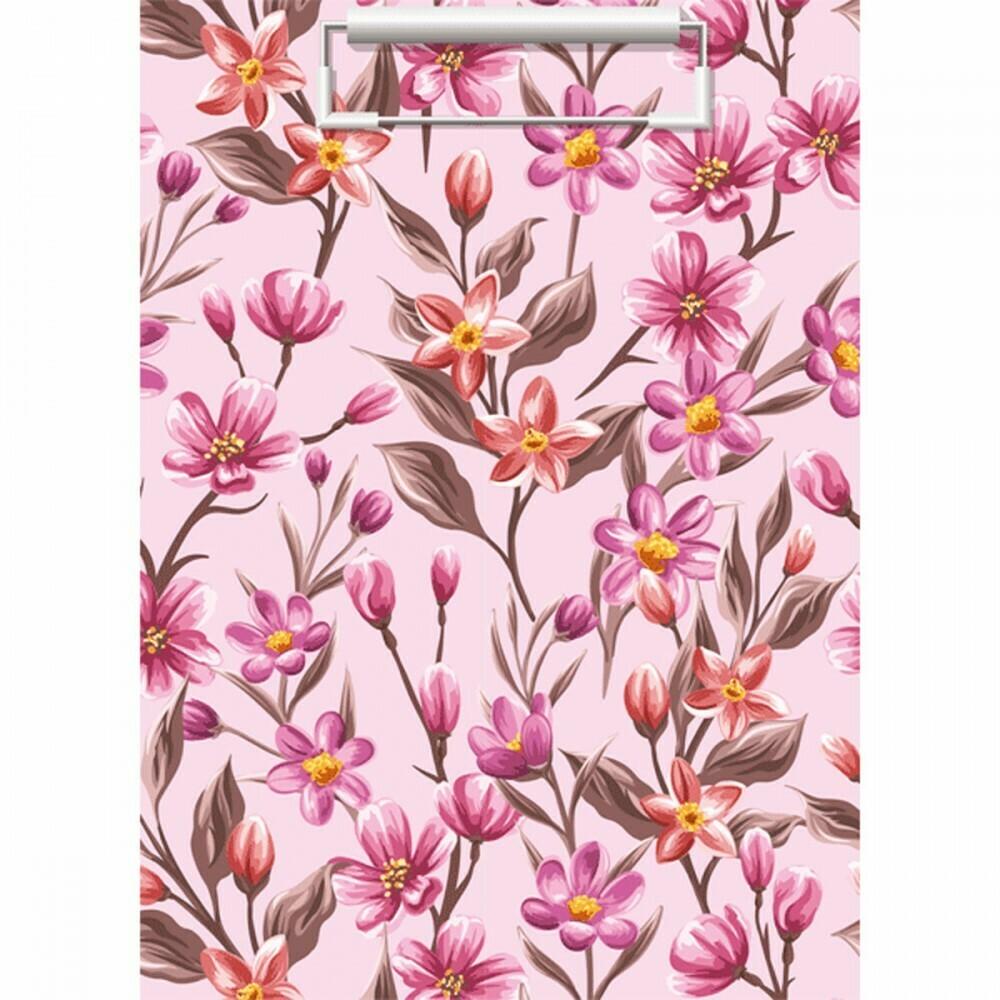 Планшет с зажимом А4 ламин 2мм deVENTE Flowers 3034905 разн