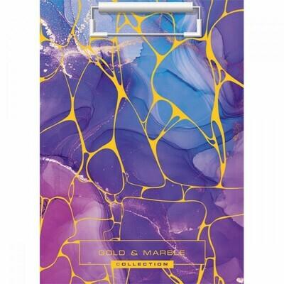 Планшет с зажимом А4 ПВХ 2мм deVENTE Marble Violet 3034907