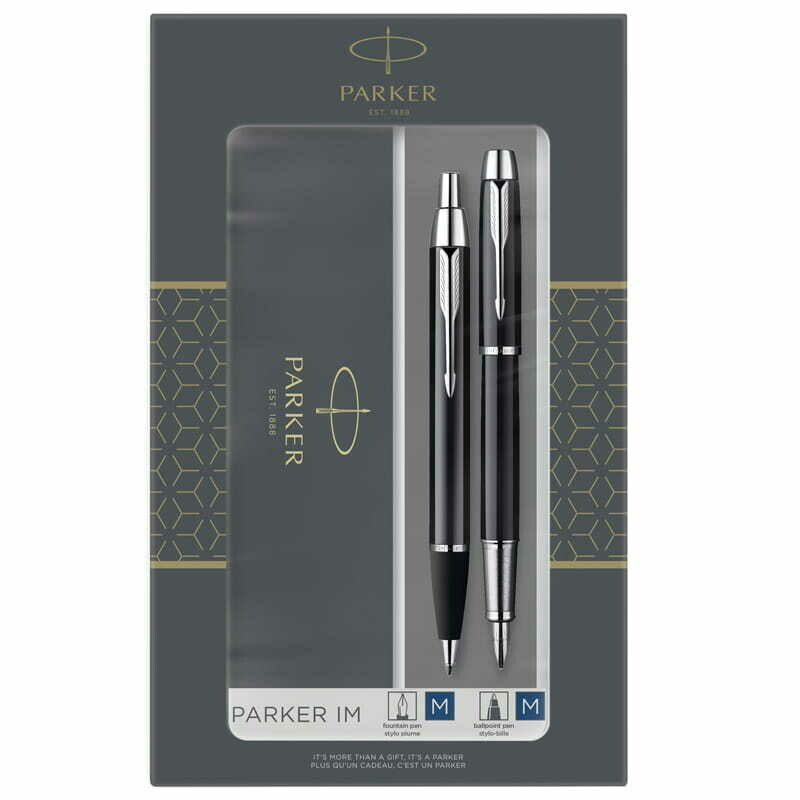 """Набор Parker """"IM Black CT"""": ручка шариковая, 1,0мм и ручка перьевая, 1,0мм, подар.уп."""