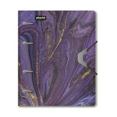 Бизнес-тетрадь А5,120л кольц/смен.бл,кл.Attache Selection Fluid Фиолетовый