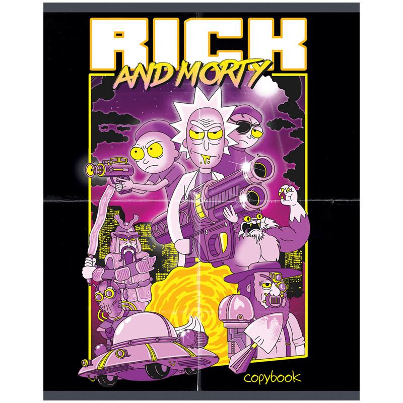 "Тетрадь 96л., А5, клетка Hatber ""Rick and Morty"" 2"