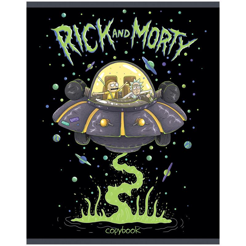 "Тетрадь 96л., А5, клетка Hatber ""Rick and Morty"""