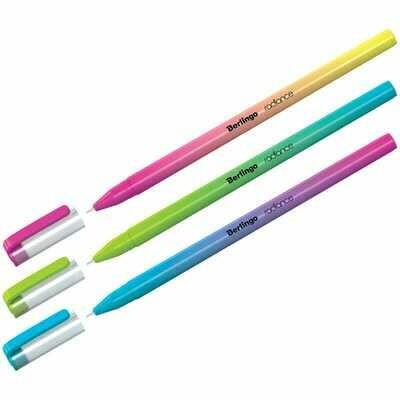 """Ручка шариковая Berlingo """"Radiance"""", 0,7мм, синяя, корпус ассорти"""