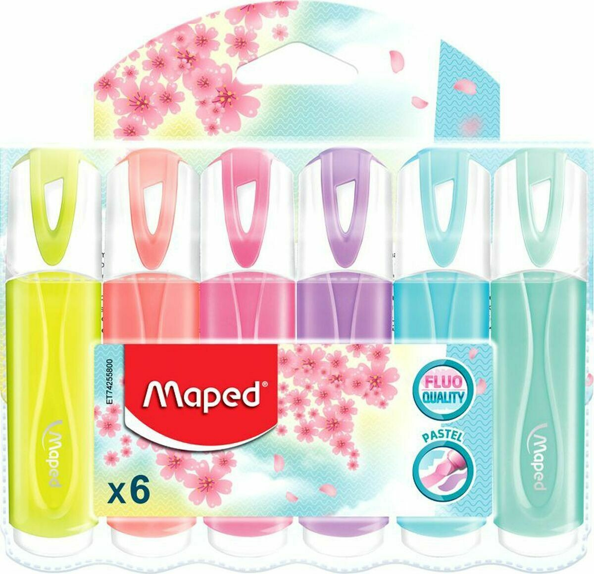 Набор текстовыделителей 6цв 1-5мм Maped Fluo Pep's Classic пастельные цвета