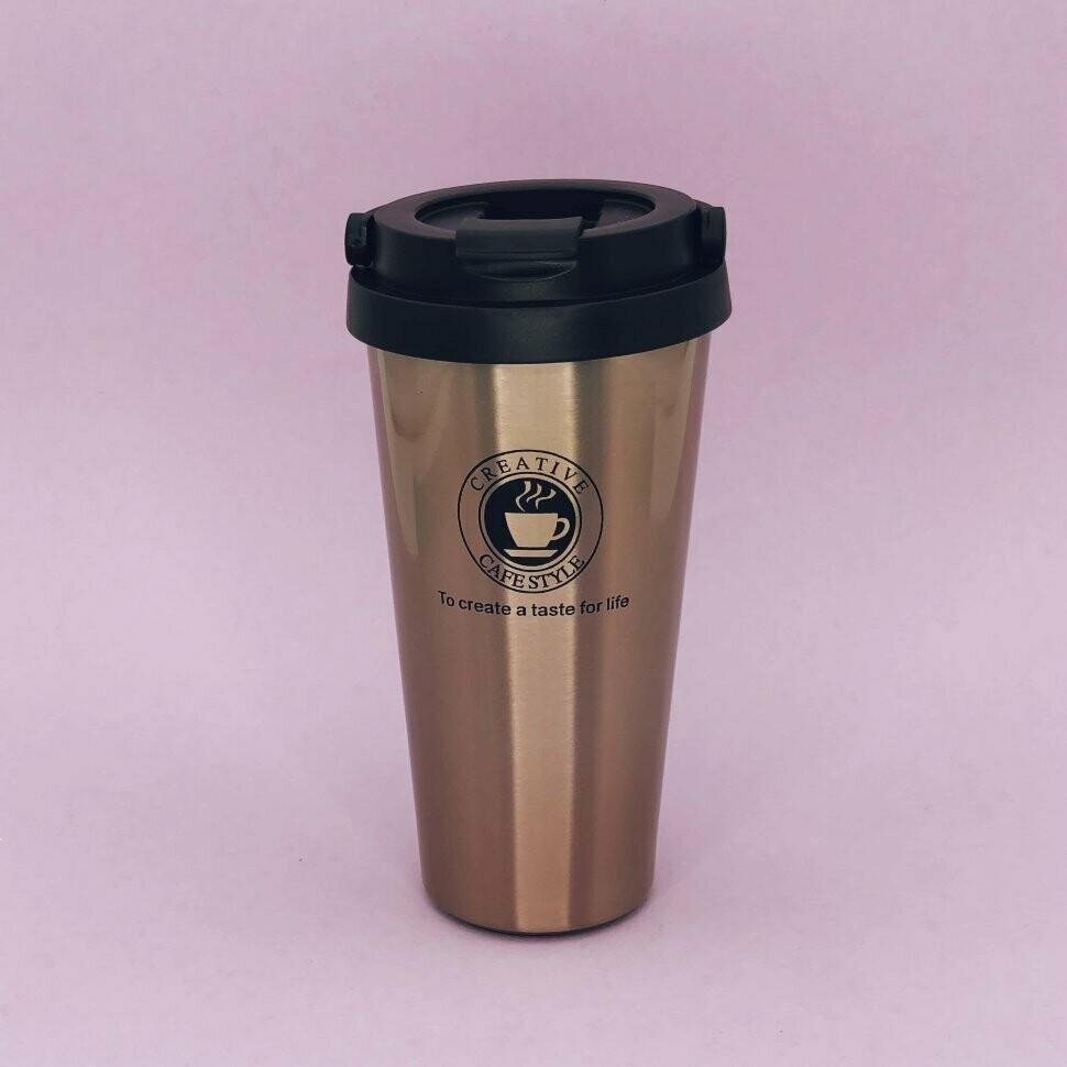 "Термокружка ""Coffee"", gold (480ml)"