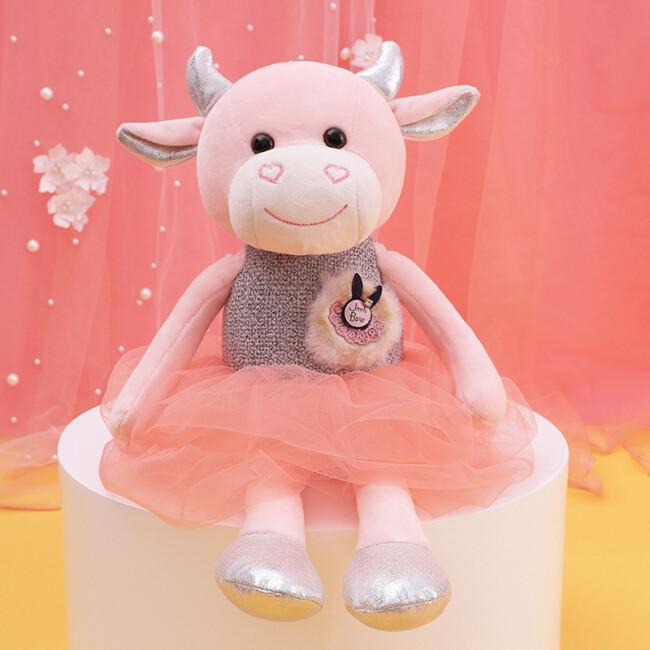 """Игрушка-подушка """"Балерина"""" (розовый персик) 40 см"""