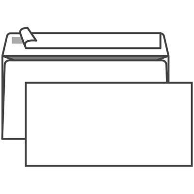 Конверт E65, KurtStrip, 110*220мм, б/подсказа, б/окна, отр. лента, внутр. запечатка