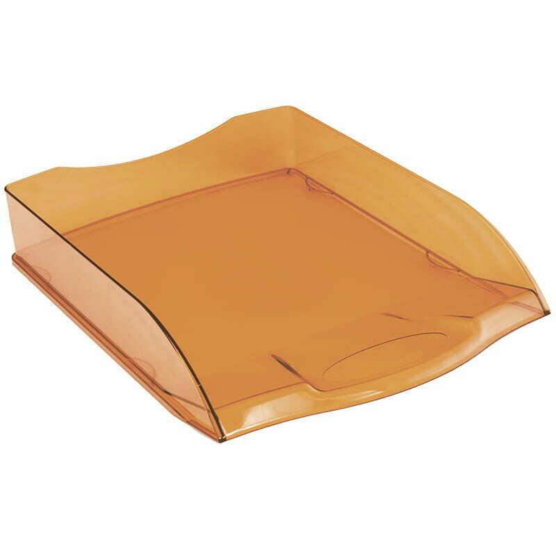 """Лоток для бумаг горизонтальный OfficeSpace """"Colorful"""", тонированный оранжевый"""