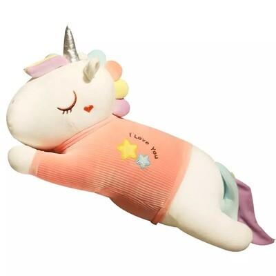 """Мягкая игрушка """"Единорог в розовой кофте"""" 35 см"""